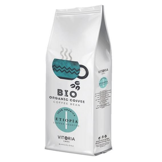 Kawa Organiczna Vitoria Etiopia Ziarnista 500g